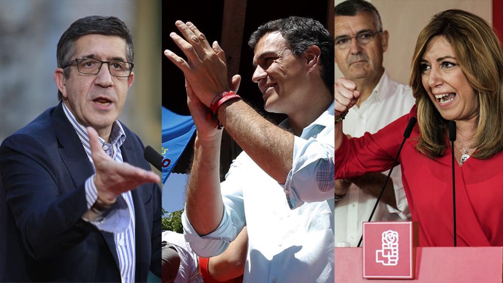 Los candidatos socialistas cierran la campaña de las primarias con críticas entre ellos y a Podemos