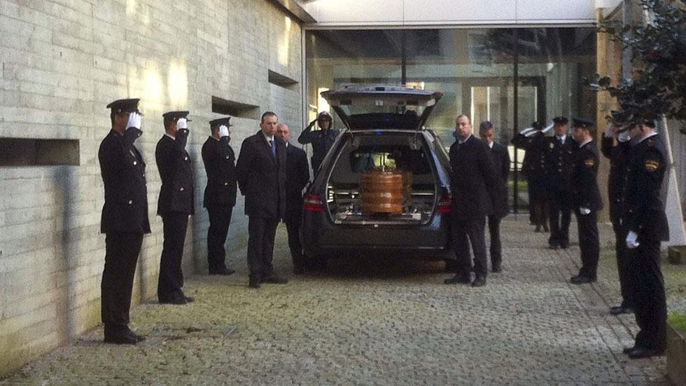 Capilla ardiente de la agente de Policía Nacional fallecida en el atraco en Vigo