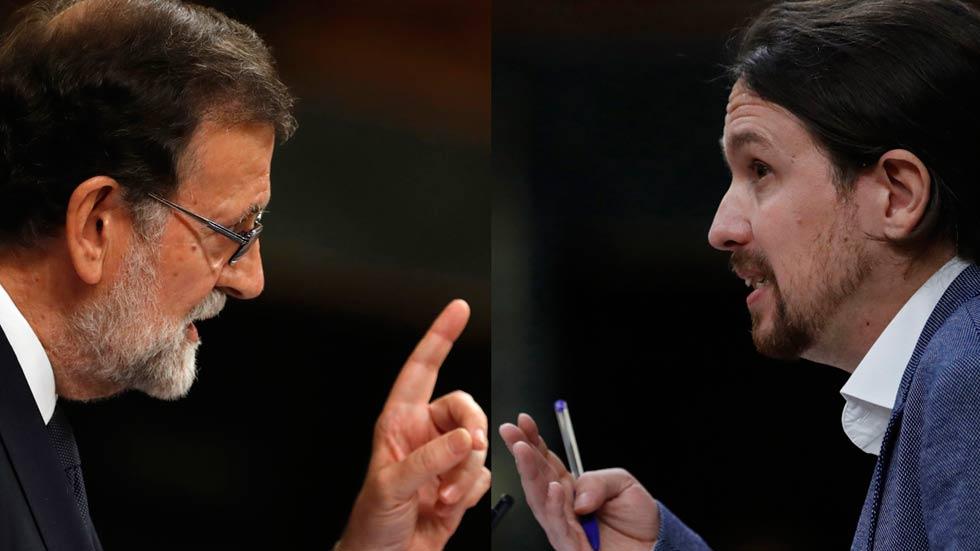 Los cara a cara entre Rajoy e Iglesias han marcado la primera jornada del debate de la moción de censura