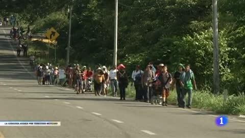 La caravana con más de 7.000 migrantes y refugiados hondureños continúa su camino hacia EE.UU
