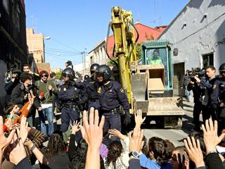 Carga policial en el Cabanyal