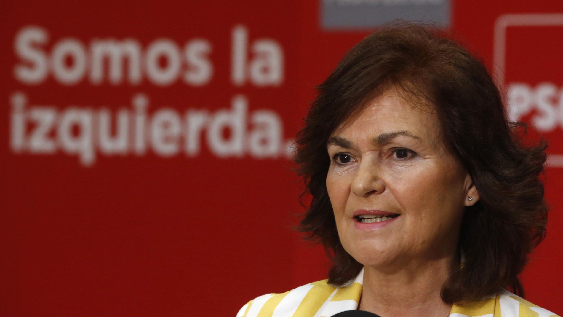 "Carmen Calvo: ""Queremos que los 350 diputados se definan"""