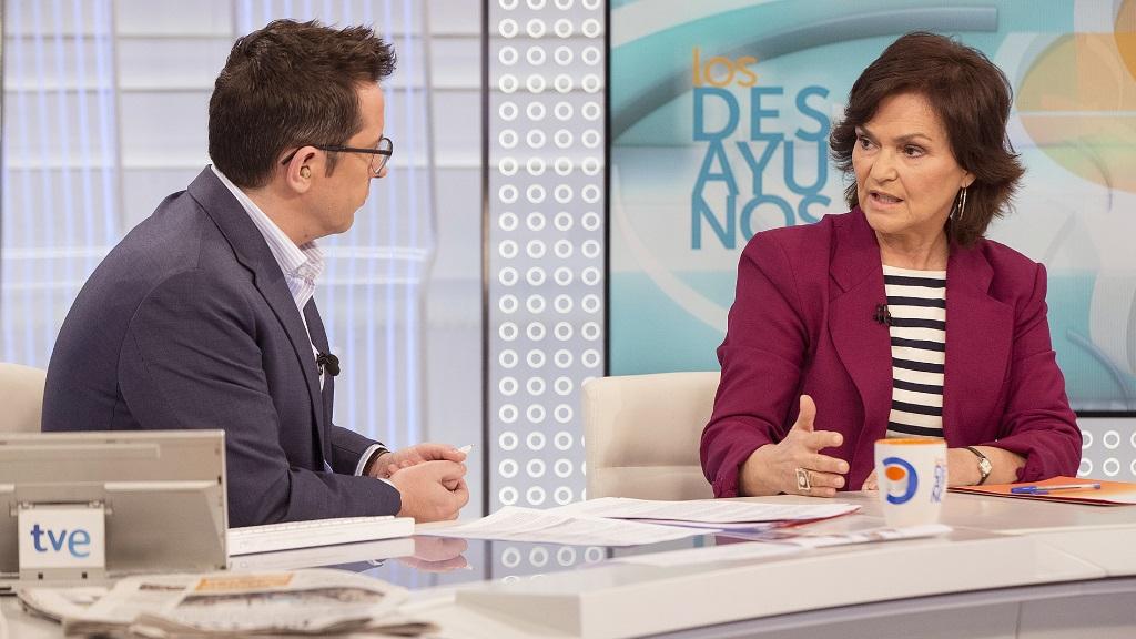 Los desayunos de TVE - Carmen Calvo, secretaria de Igualdad del PSOE