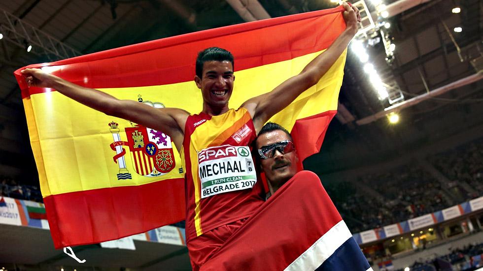 Carrera completa 3.000 metros: Mechaal da a España el primer oro