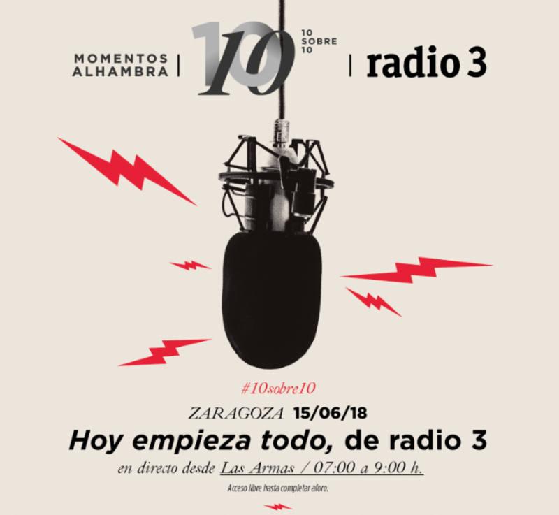 Cartel de la edición especial de Hoy Empieza Todo en directo desde Zaragoza