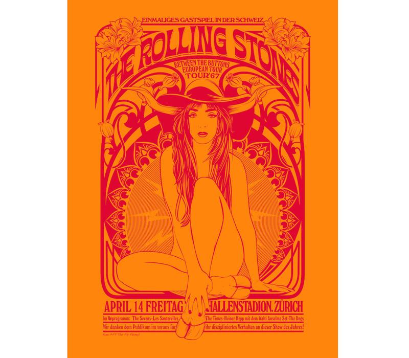 Cartel de los Rolling Stones en Zúrich