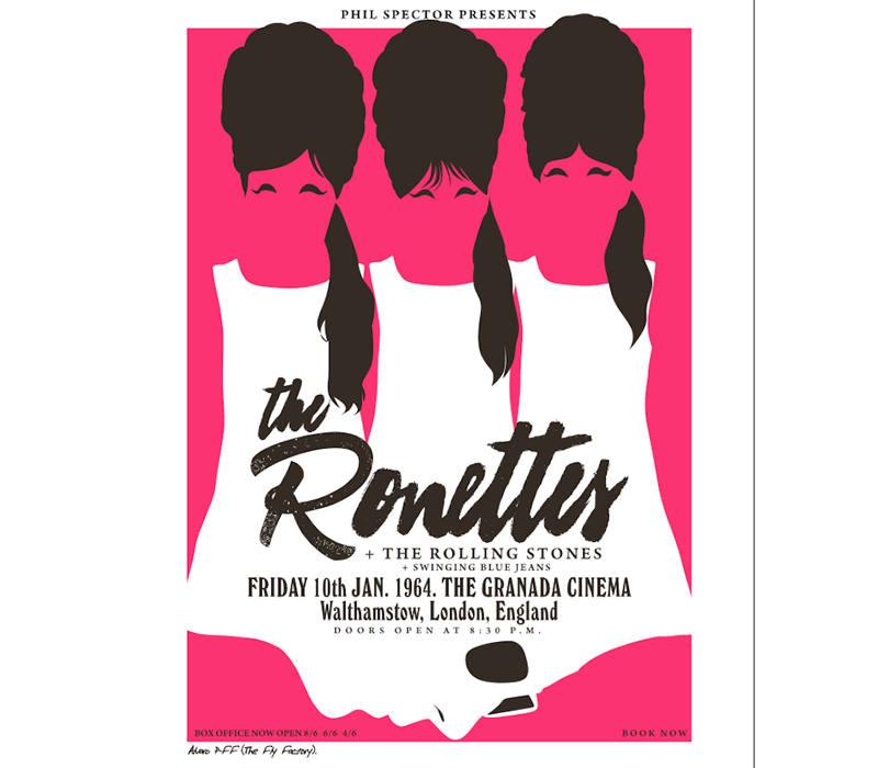 Cartel de The Ronettes + Rolling Stones