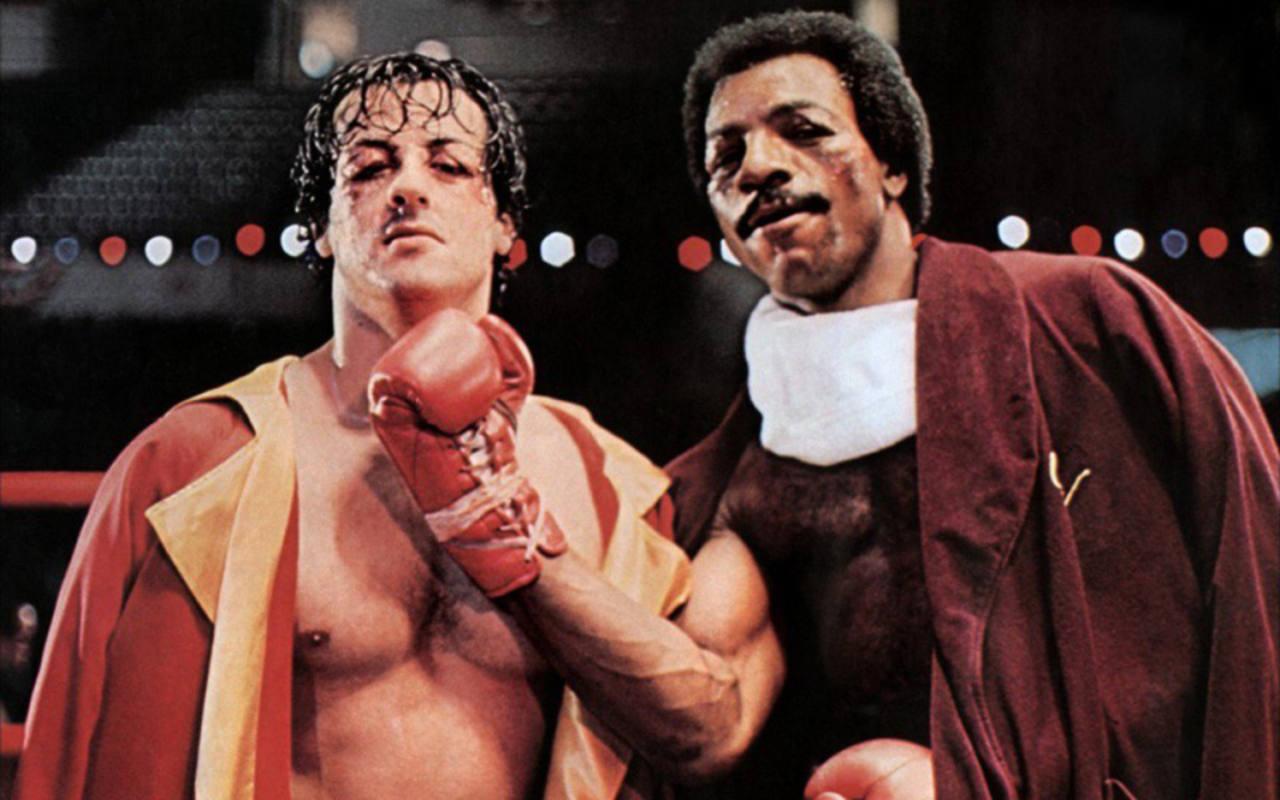 Casi cuarenta años han pasado desde esta imágen de Rocky Balboa y Apolo Creed