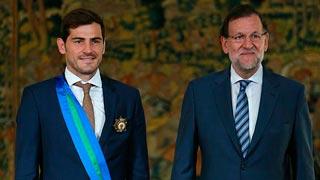 Casillas recibe la Gran Cruz de la Orden al Mérito Deportivo
