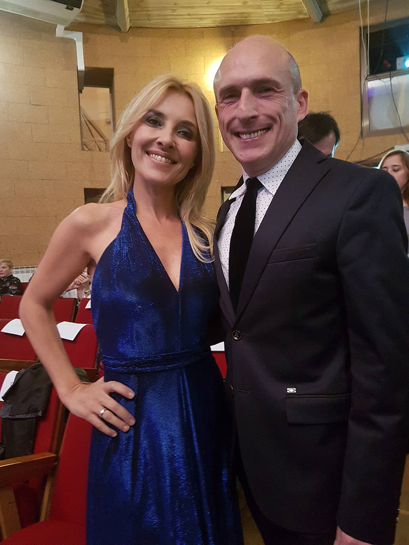 Cayetna Guillén Cuervo y Antonio Gárate durante la entrega de los Premios Pop Eye 2017