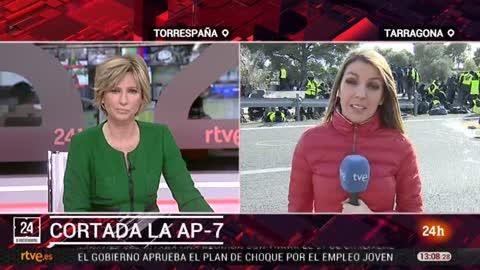 Los CDR cortan la AP-7 a la altura de la l'Ampolla, en Tarragona