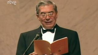 Ceremonia de ingreso de Mario Vargas Llosa en la RAE (1996)