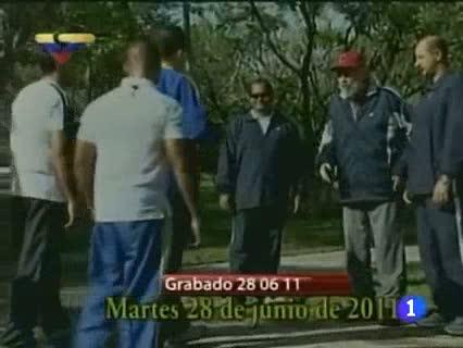 Un nuevo vídeo de Chavéz con Fidel Castro acalla los rumores sobres su salud