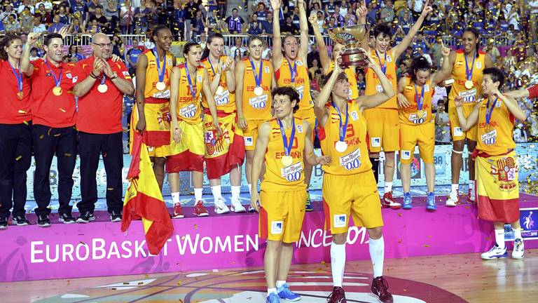 Eurobasket femenino espa a francia espa a oro europeo de baloncesto femenino en la misma - Las chicas de oro espana ...