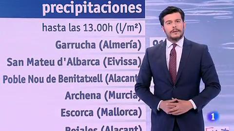 Chubascos localmente fuertes en el este peninsular y Baleares