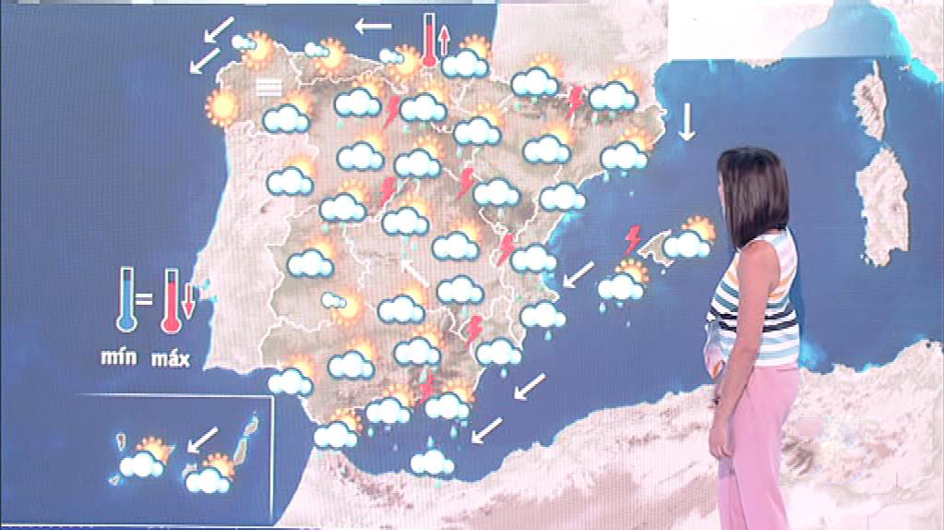 Chubascos y tormentas localmente fuertes en el Mediterráneo