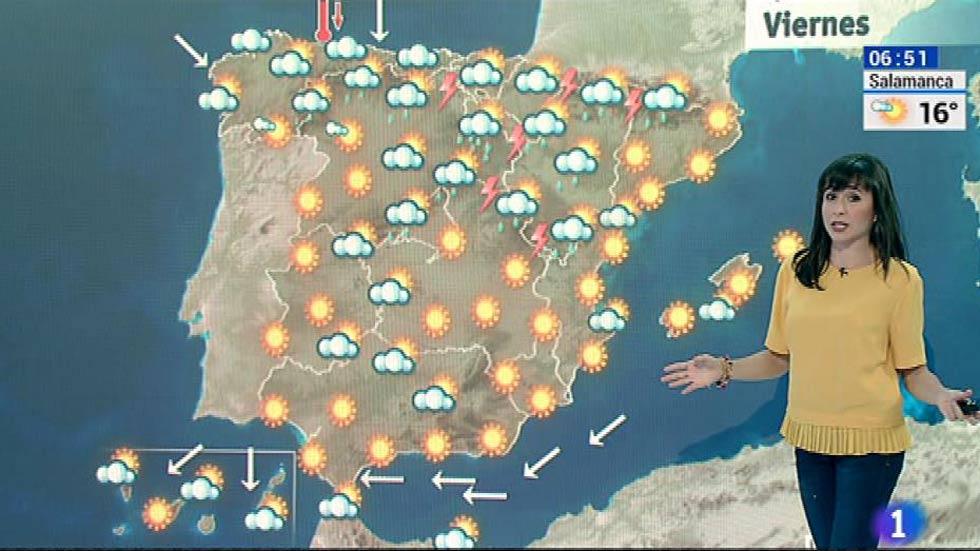 Chubascos y tormentas en muchos puntos de la península