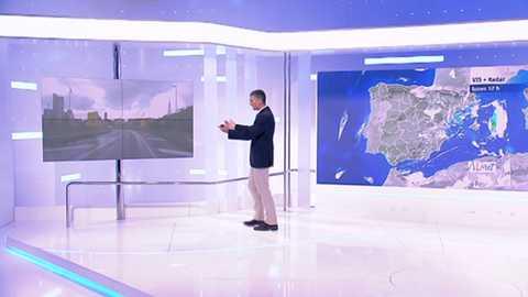 Chubascos y tormentas, que podrían ser localmente fuertes o muy fuertes y persistentes en la Comunidad Valenciana y Baleares