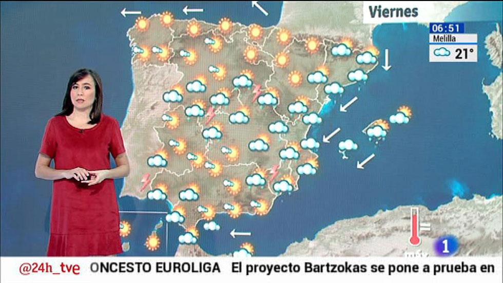 El cielo estará nuboso en gran parte de la península y Baleares