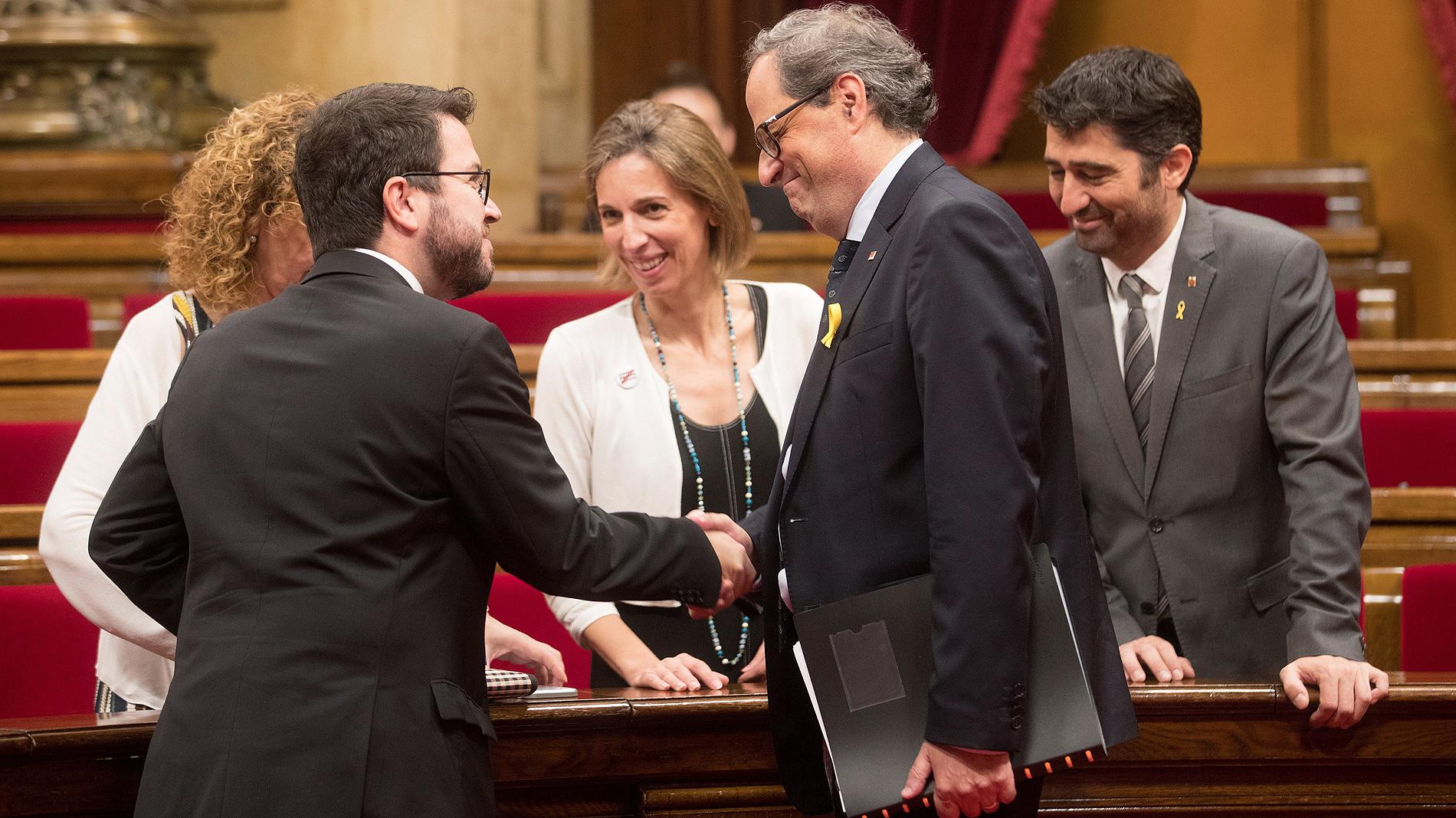 Cisma en el independentismo por la suspensión de Puigdemont y otros diputados procesados por rebelión