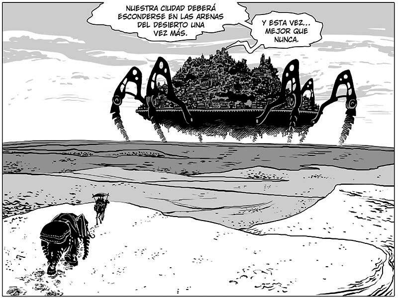 La ciudad de Axedra se mueve por el desierto