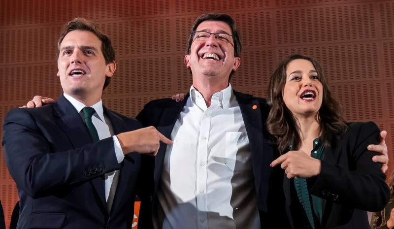 Ciudadanos tras conocer los resultados en Andalucía