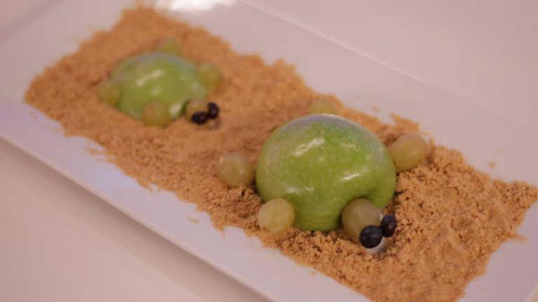 ✖ Cocina con Clan - Postre - Tortuga de manzana y uva en isla de ...