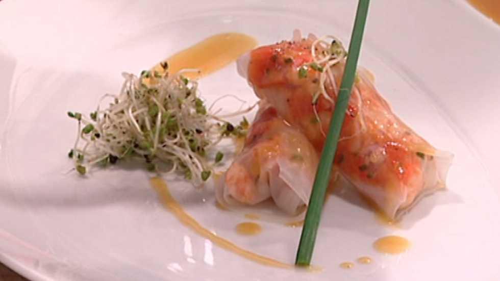 Receta de canelones de marisco con salsa de naranja for Canelones de pescado y marisco