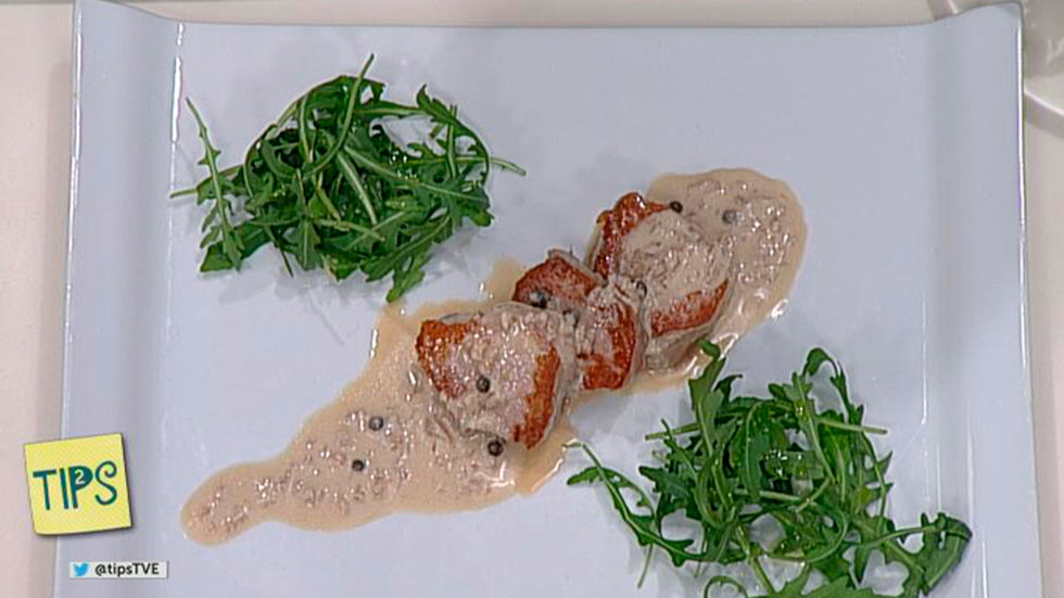 TIPS - Cocina - Solomillo a la pimienta verde