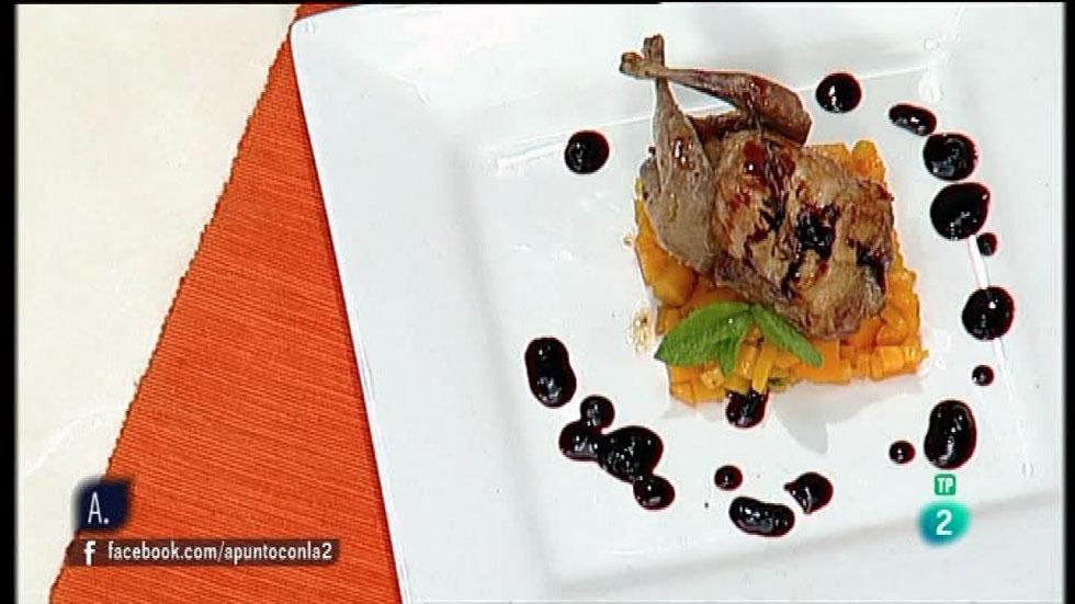 A punto con La 2 - Cocina a punto - Codornices asadas con frutos rojos