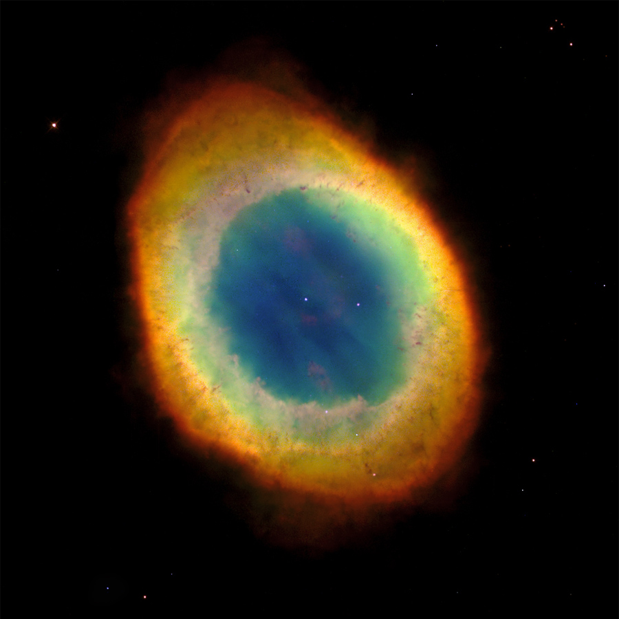 Los colores de la Nebulosa del Anillo