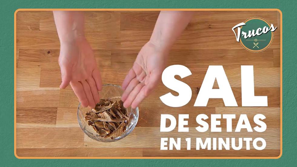 Trucos de cocina - Cómo hacer la sal de setas en un minuto