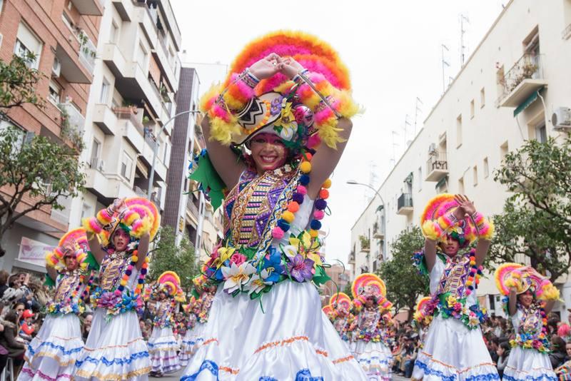 Una de las comparsas del Carnaval de Badajoz