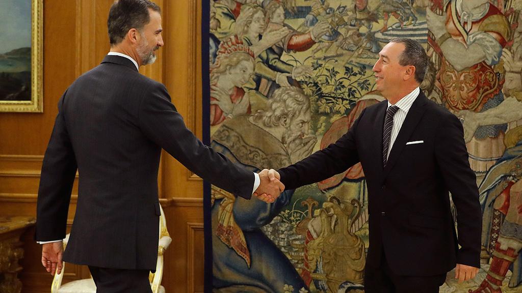 Compromís y En Comú Podem reiteran ante el rey su no a la investidura de Rajoy