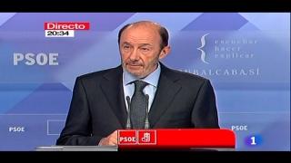 Especiales informativos - Comunicado de ETA: Declaraciones de Rubalcaba y Rajoy