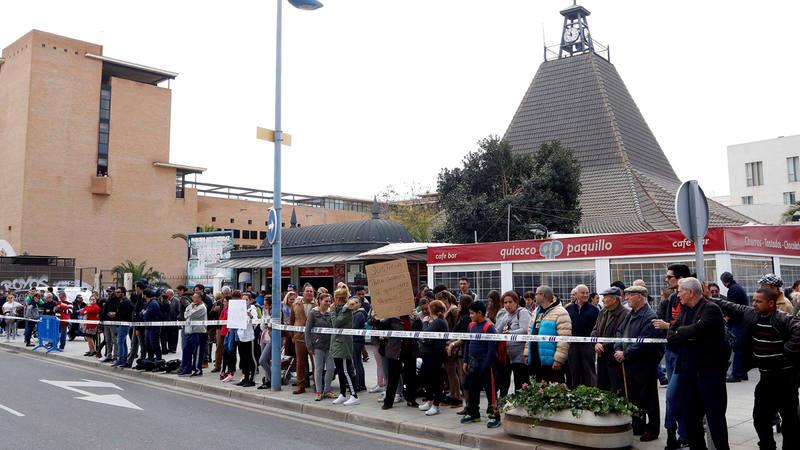 Concentración en la Ciudad de la Justicia de Almeria para pedir justicia para Gabriel