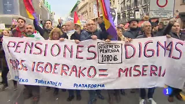 Concluye en Madrid la segunda manifestación de jubilados y pensionistas