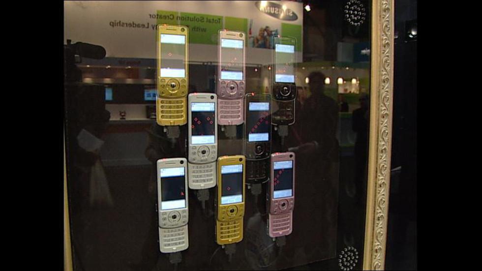 """Arxiu TVE Catalunya - Congrés de telefonia mòbil """"3GSM"""""""