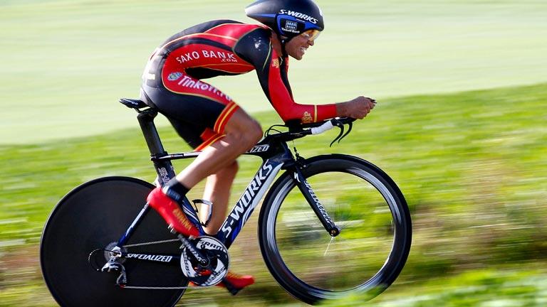 Contador, fuera del podio en el mundial contrarreloj