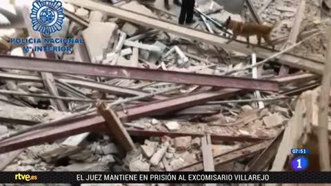 Continúa la búsqueda de dos personas sepultadas por un edificio en Madrid
