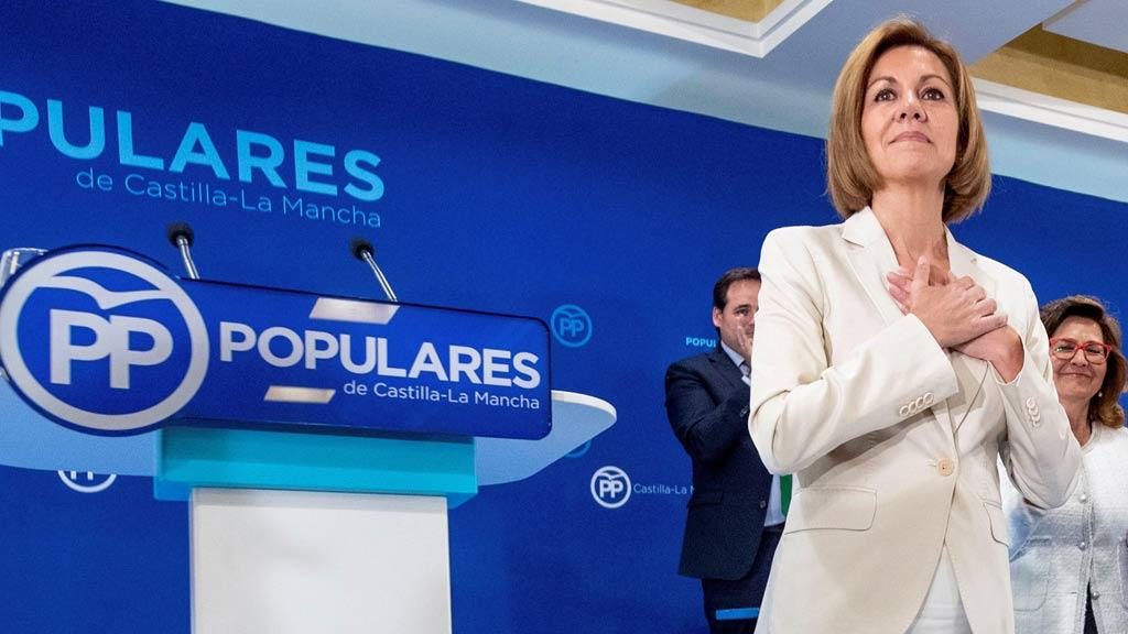 Cospedal anuncia que presenta su candidatura a la Presidencia del PP