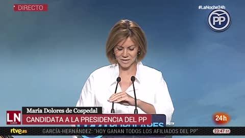 """Cospedal pide un """"periodo de reflexión"""" tras perder las primarias del PP"""