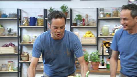 Torres en la cocina - Crema coliflor, costilla de ternera con champiñones