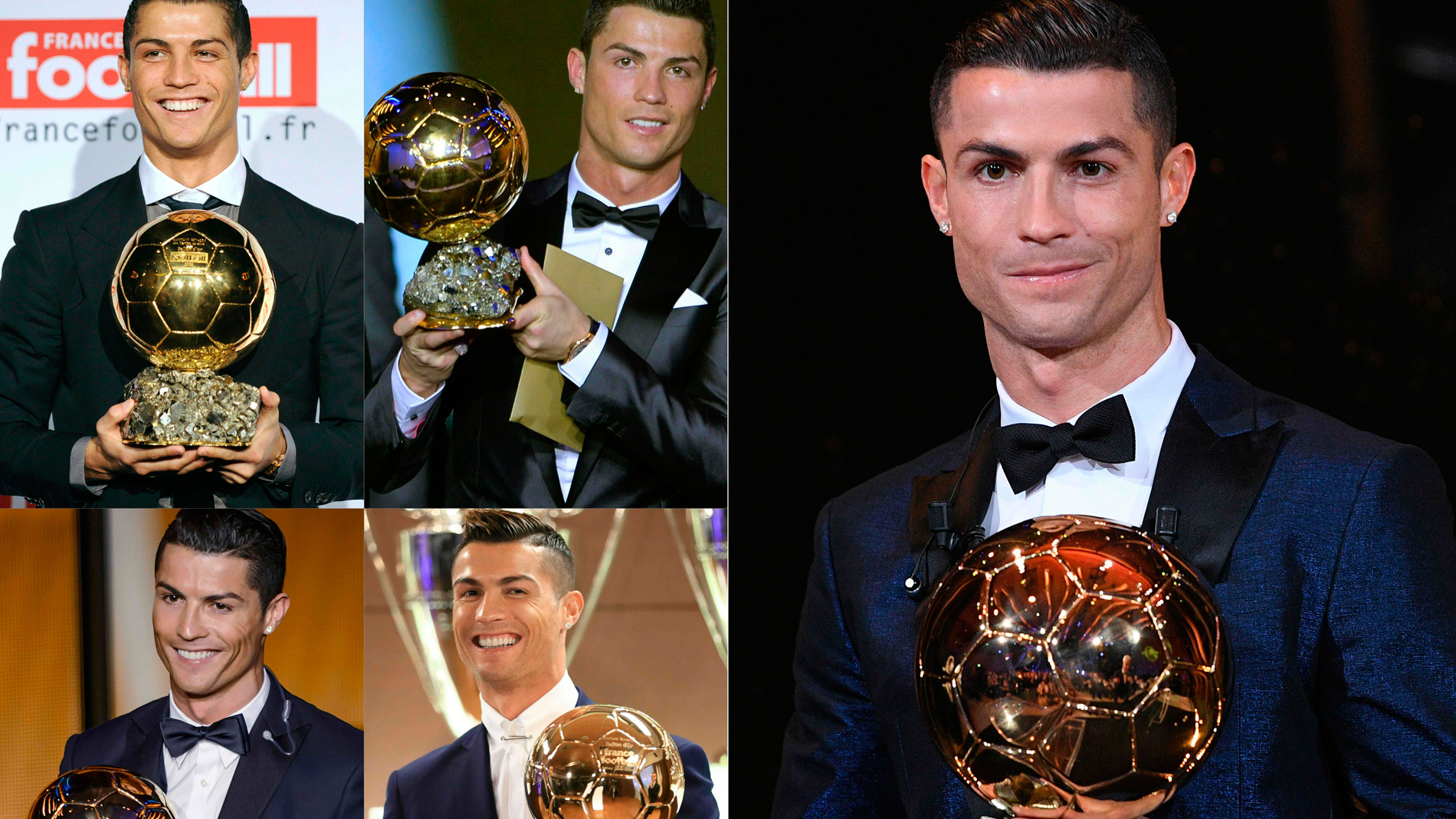 Cristiano Ronaldo logra su quinto Balón de Oro e iguala a Messi