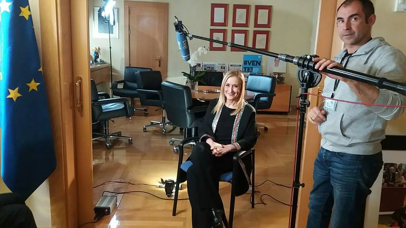 Cristina Cifuentes durante la entrevista con Informe Semanal