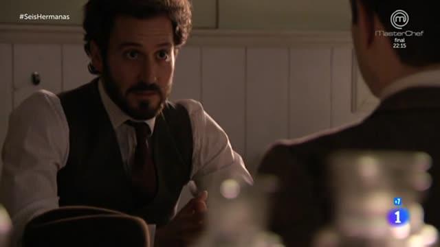 Seis Hermanas - Cristóbal comunica al inspector que el asesino acaba de morir