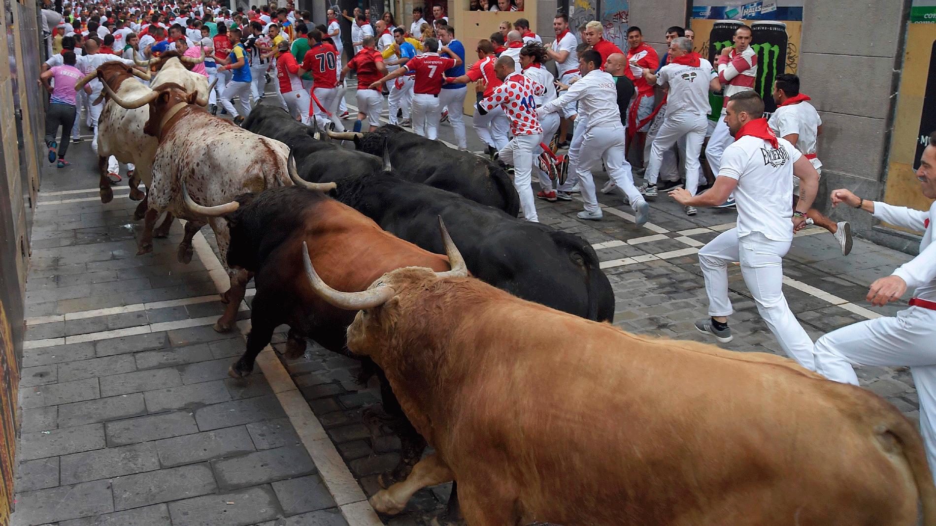 Cuarto encierro veloz y limpio con toros de Fuente Ymbro