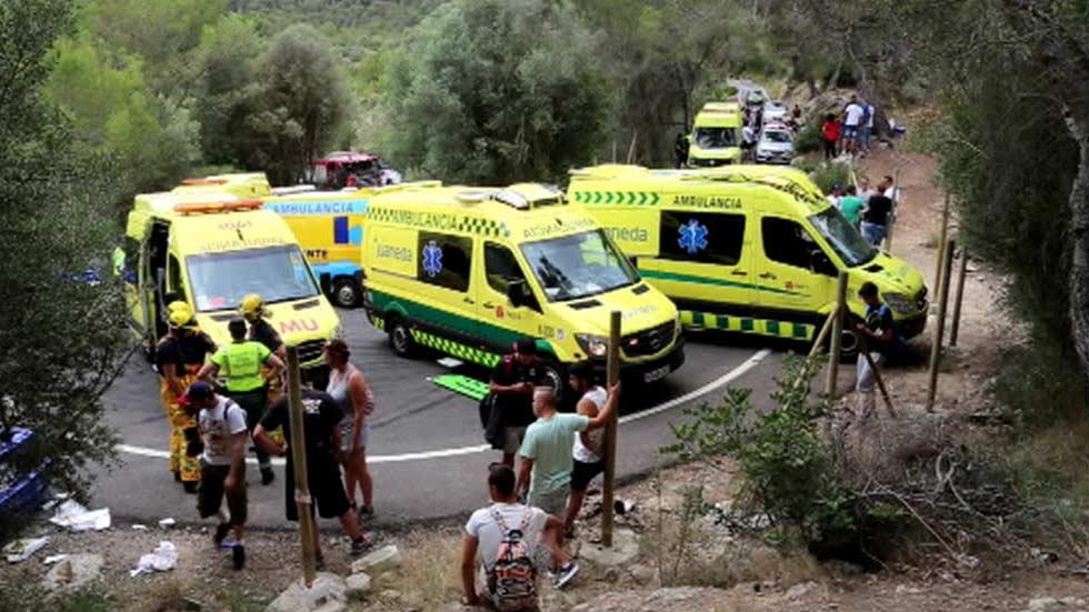 Cuatro heridos muy graves en un accidente en un Rally en Calvià, Mallorca