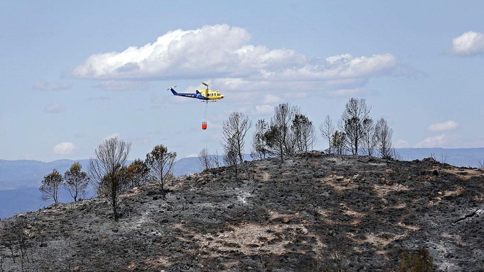 Cuatro incendios declarados en las últimas 48 horas en Valencia han quemado ya 2.809 hectáreas