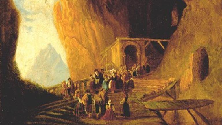 Mirar un cuadro - La cueva de Covadonga (Pérez Villaamil)